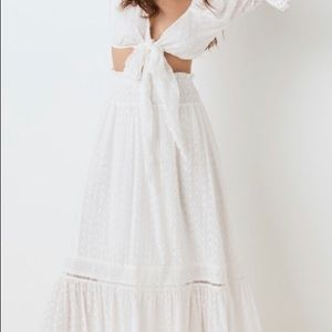 Daisy Chain Frill Maxi Skirt